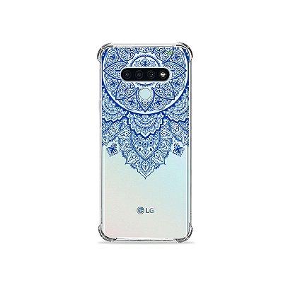 Capa (Transparente) para LG K71 - Mandala Azul