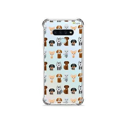 Capa (Transparente) para LG K71 - Doguinhos