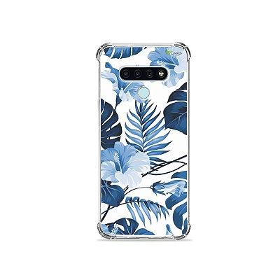 Capa para LG K71 - Flowers in Blue