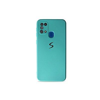 Silicone Case Verde Água para Galaxy M31