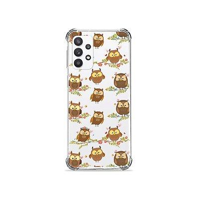 Capa (Transparente) para Galaxy A32 5G - Corujinhas