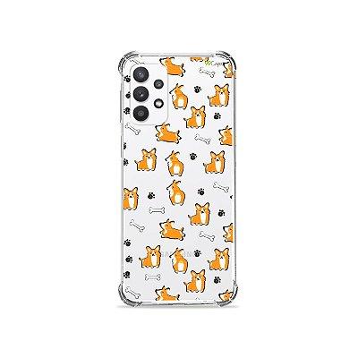 Capa (Transparente) para Galaxy A32 5G - Cãozinho