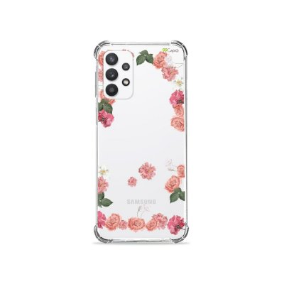 Capa (Transparente) para Galaxy A32 5G - Pink Roses