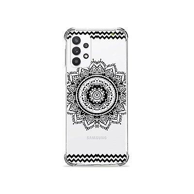 Capa (Transparente) para Galaxy A32 5G - Mandala Preta