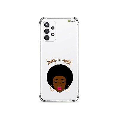 Capa (Transparente) para Galaxy A32 5G - Black Lives