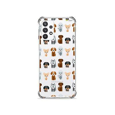 Capa (Transparente) para Galaxy A32 5G - Doguinhos