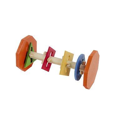 Passa formas horizontal - Mad. e MDF - 4 formas - PVC enc.