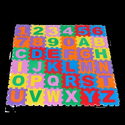 Tapete alfanumerico - EVA - 36 pc - Emb. c/ ziper