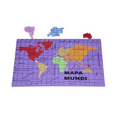 Mapa mundi EVA - Base MDF - PVC enc.
