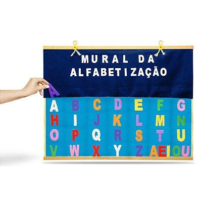 Painel mural da alfabetizacao - Feltro