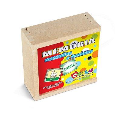 Memoria masculino e feminino - MDF - 40 pc - Cx. mad.
