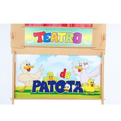 Teatro da patota - MDF - 27 pc - Cx. papelao