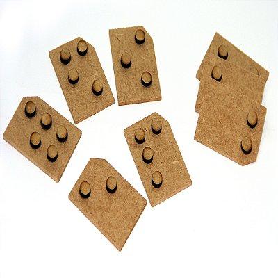 Braille sist recortado - MDF - 54 pc - Cx. mad.