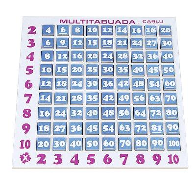 Multi tabuada - MDF - 81 pc - PVC enc.