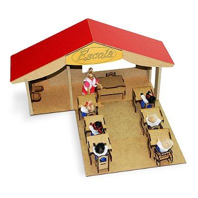 Escola ideal - MDF - 18 pc - Cx. papelao
