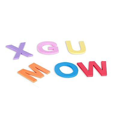 Alfabeto e vogais EVA 108 pc - Cx papel