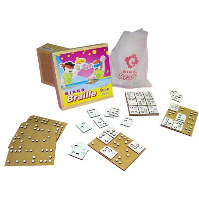 Braille bingo - MDF - 60 pc - Cx. mad.