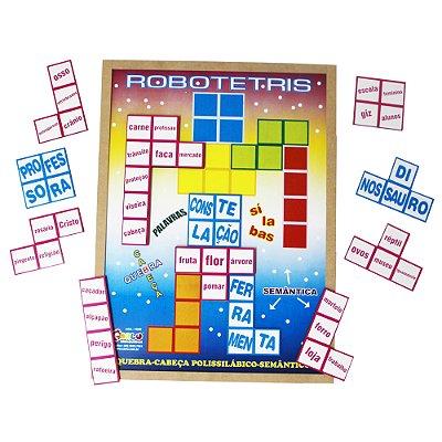 Quebra Cabeça Robotetris - MDF 20 pc - Emb. PVC