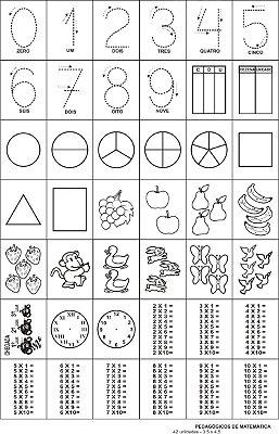 Carimbo pedagogicos de matematica - Mad. - 42 pc - Cx. papel