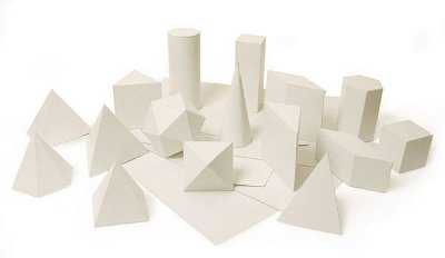 Sólidos Geométricos Planificados 20 Figuras Em ão Cartolina
