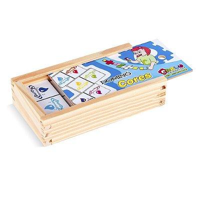 Domino Cores Em Mdf Com 28 Peças