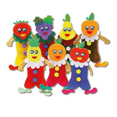 Dedoche Frutas Feltro 7 Personagens