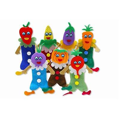 Dedoche Legumes Feltro 7 Personagens