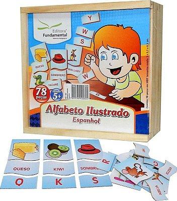 Alfabeto Ilustrado Espanhol Emb. Com 78 Peças