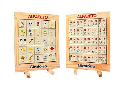 Alfabeto Giratório Quadro Med. 32x24x2 Cm