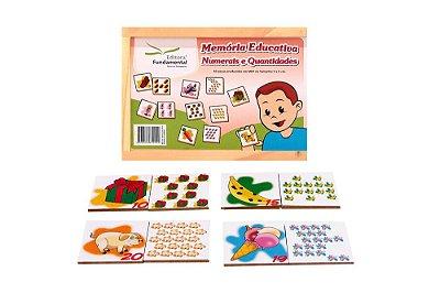 Memoria Educativa Numerais E Quantidades Jogo Com 40 Peças