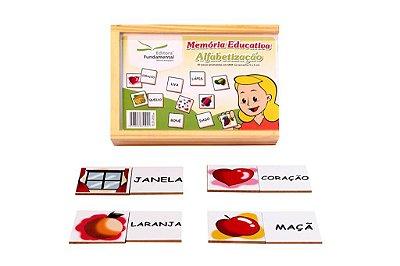 Memoria Educativa Alfabetizaçao Jogo Com 40 Peças