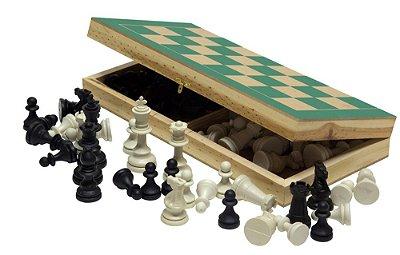Jogo De Xadrez Com Estojo Gde 38x38 Cm