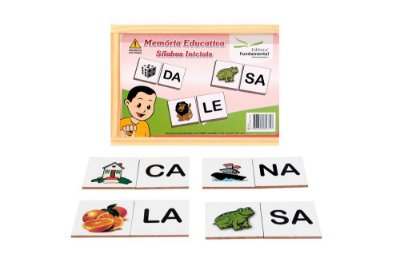 Memoria Educativa Silabas Iniciais Jogo Com 40 Peças