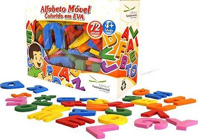Alfabeto Movel Colorido Eva Com 72 Peças
