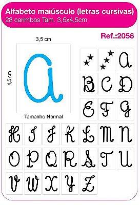 Carimbos Alfabeto Maiusculo Letras Cursivas 28 Unidades
