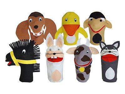 Conjunto Fantoches Animais Domesticos 7 Unidades