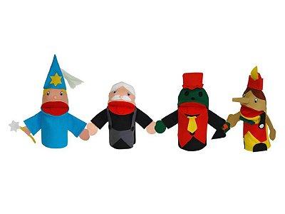 Conjunto Fantoches Pinoquio Com 4 Unidades