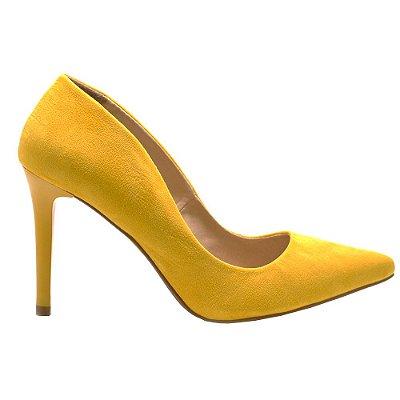 Scarpin Eleven Eleven em Suede Amarelo