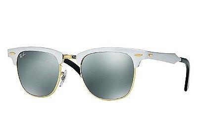 Óculos Clubmaster Aluminium RB 3507 Lente Cinza Espelhada