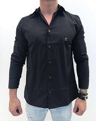 Camisa Social Tradicional Preta - Orion Unlimited a88d3e712f7