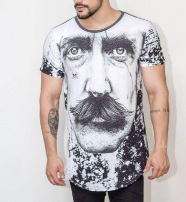 Longline Moustache - Riviera Clothing