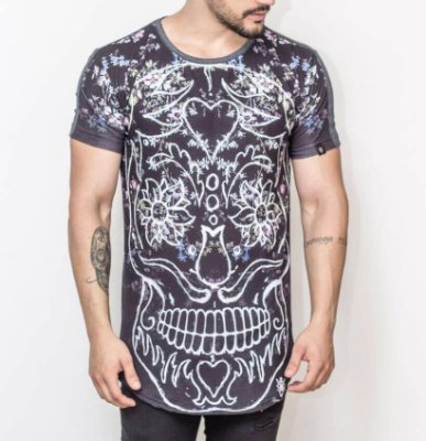 Longline Skull White - Riviera Clothing
