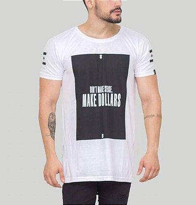 Longline Dollars White com Zíper - Riviera Clothing