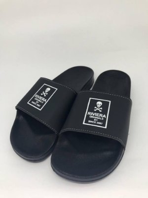 Chinelo Slide Skull And Black - Riviera Clothing