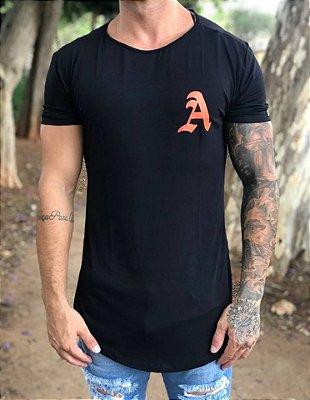 Camiseta Longline Break Rules Black - Alltribe
