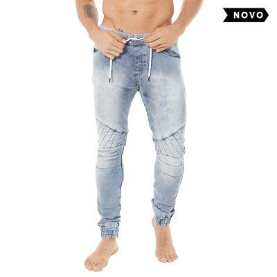 Calça Jeans Biker Light Blue - La Moustache