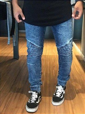 Calça Jeans Biker Navy Blue - La Moustache