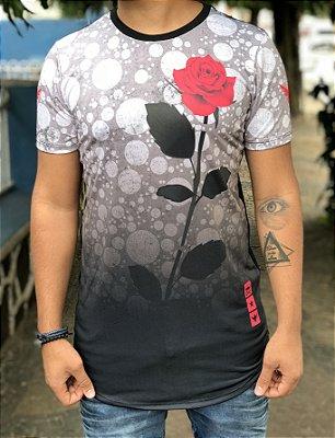 Camiseta Longline Rosa - Evoque