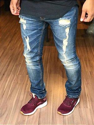 Calça Jeans Skinny Destroyed Premium Italy - Rock & Soda Jeans