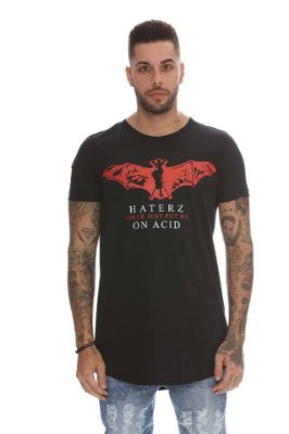 Camiseta Longline Bat Red - Haterz